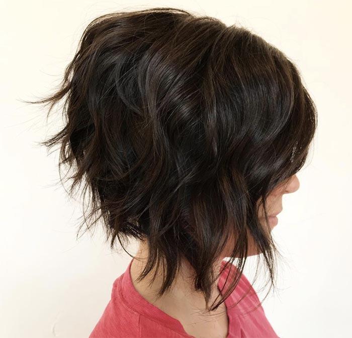 cabelo curto repicado com pontas