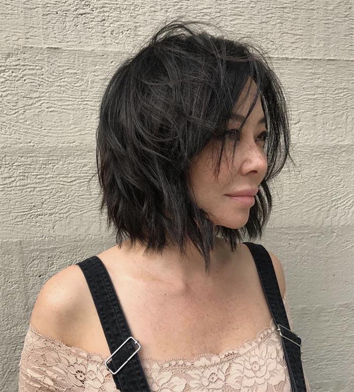 cabelo curto repicado em camadas