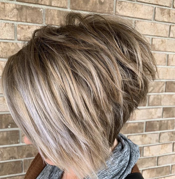 cabelo repicado batido atras