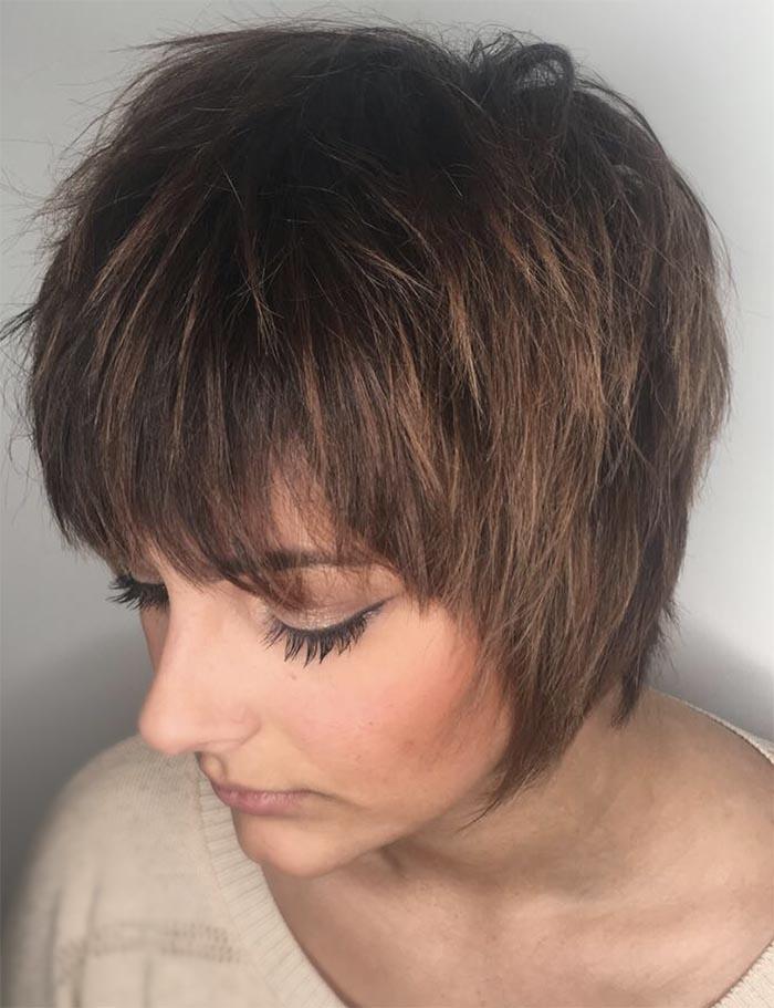 cabelo repicado com franja
