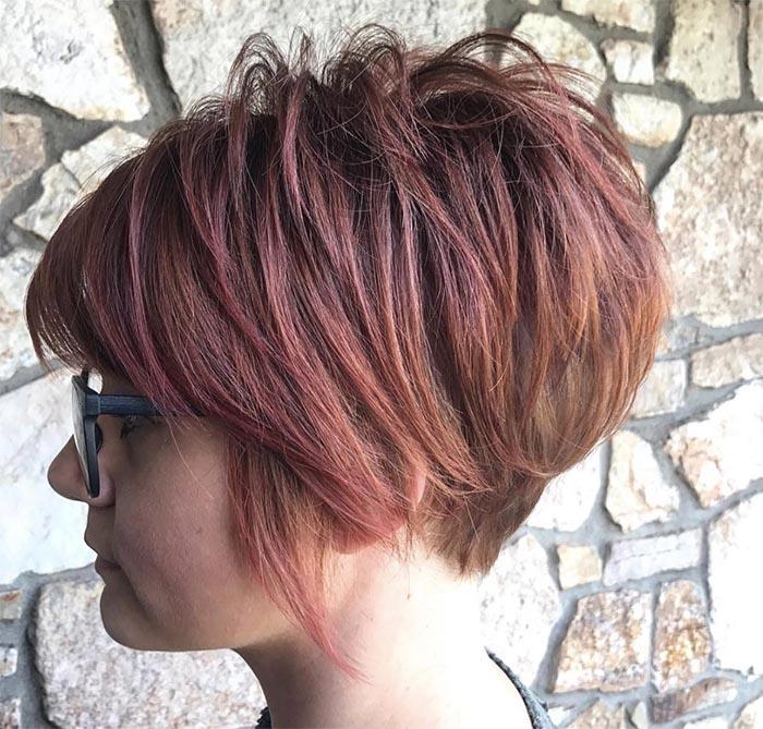 cabelo repicado vermelho