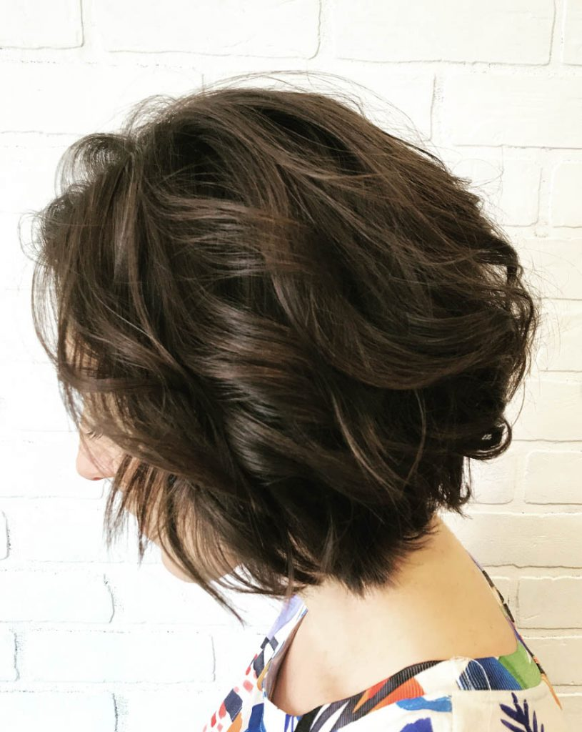 chanel repicado cabelo ondulado