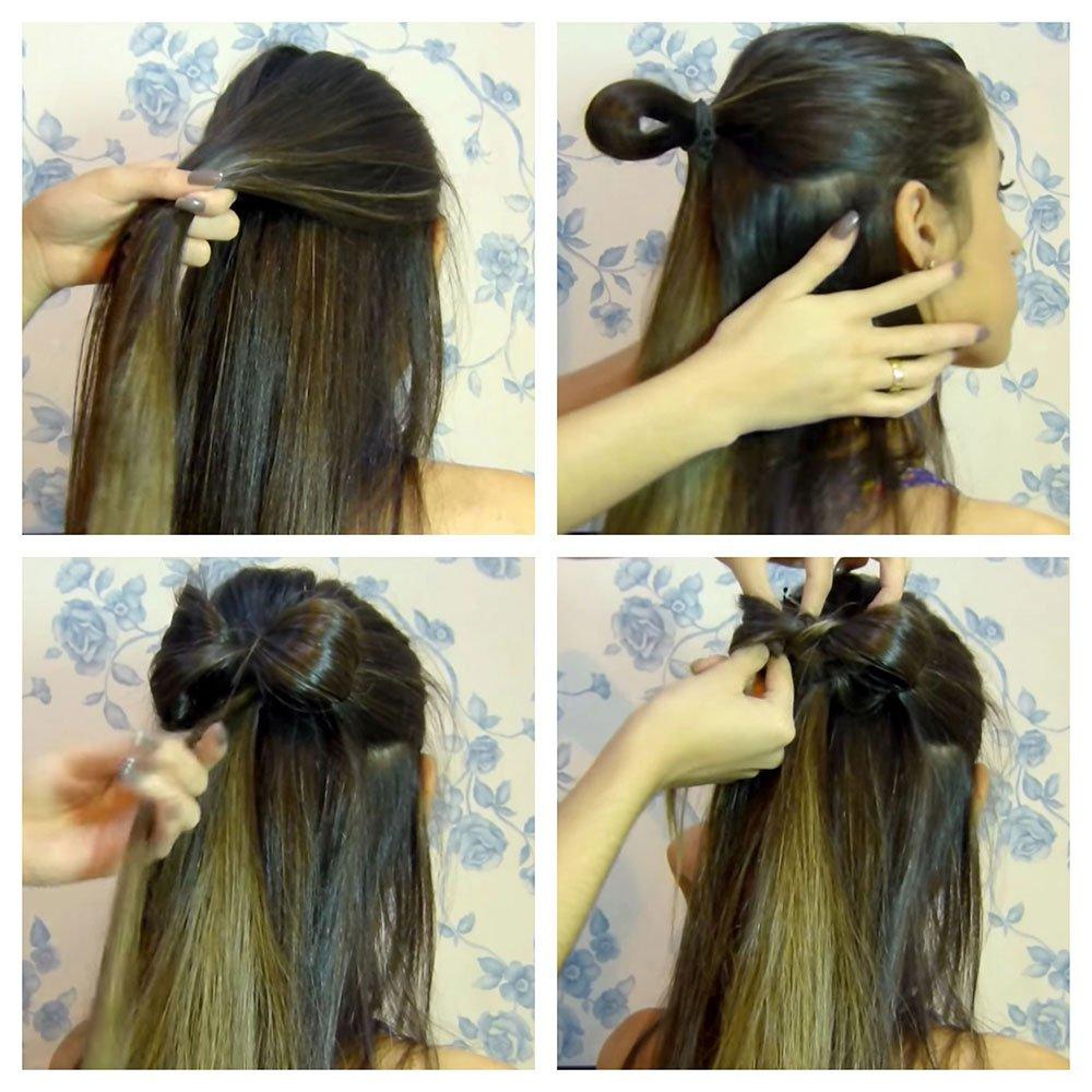 como fazer um laço no cabelo solto