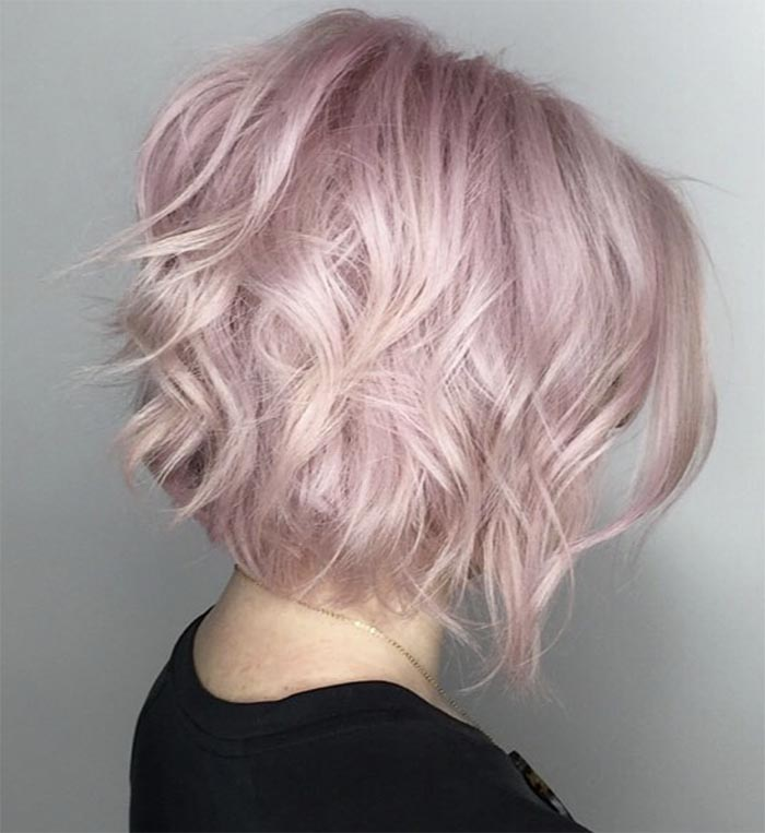 corte curto repicado rosa