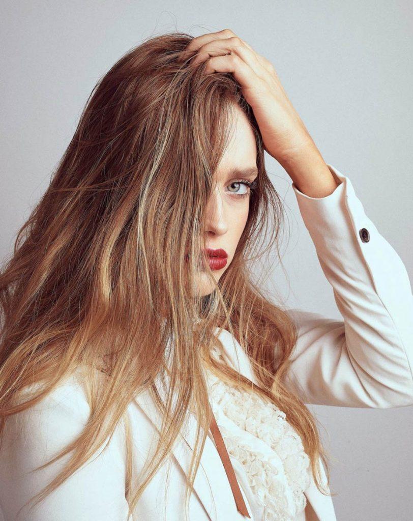 longo reto cabelo ondulado