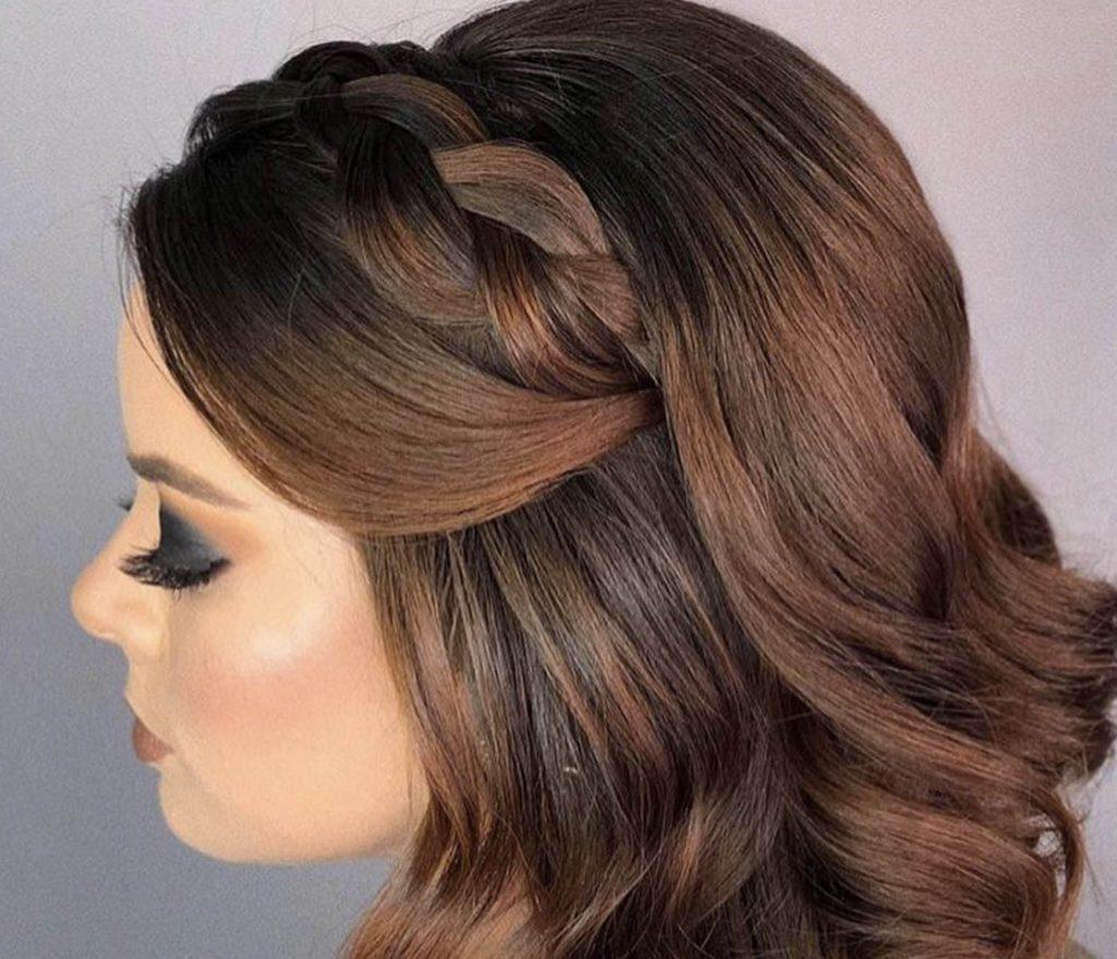 penteado cabelo curto com tranca lateral