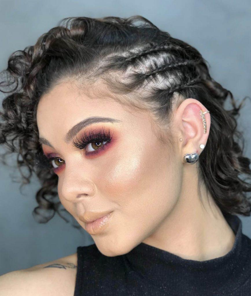 penteado cabelo curto crespo com trancas