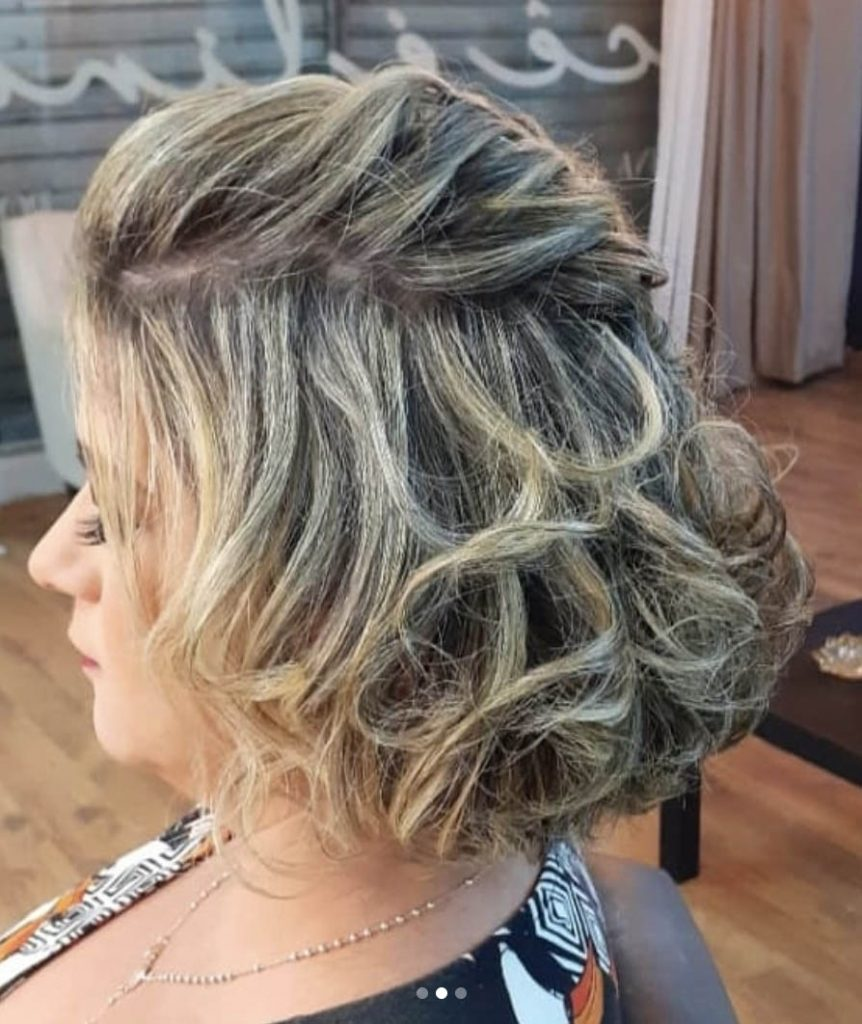 penteado cabelo curto ondulado