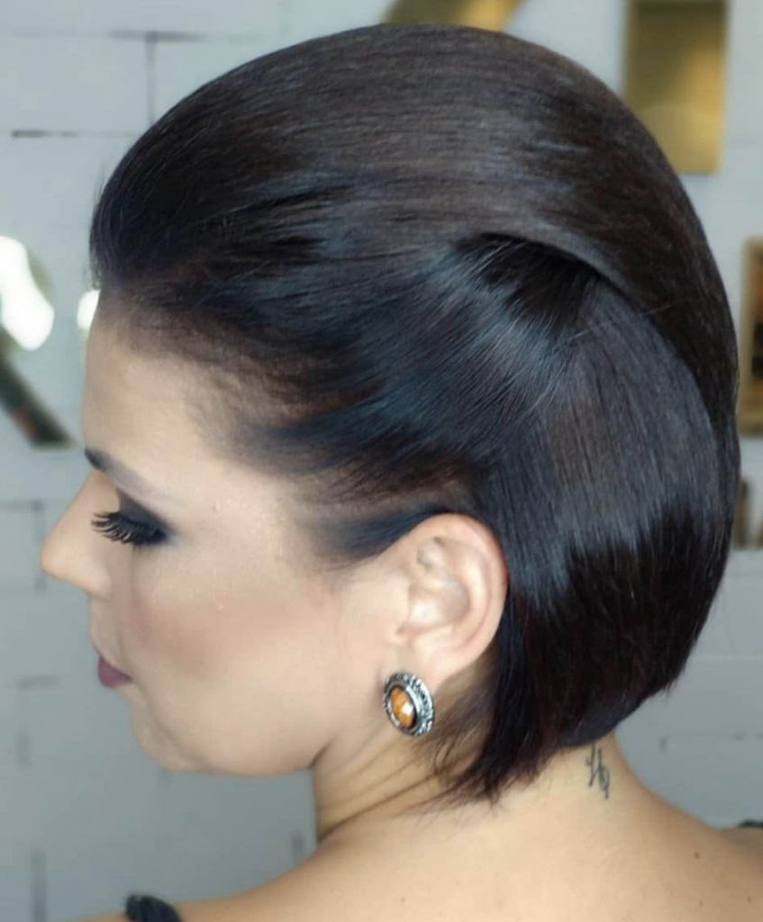 penteado cabelo curto polido