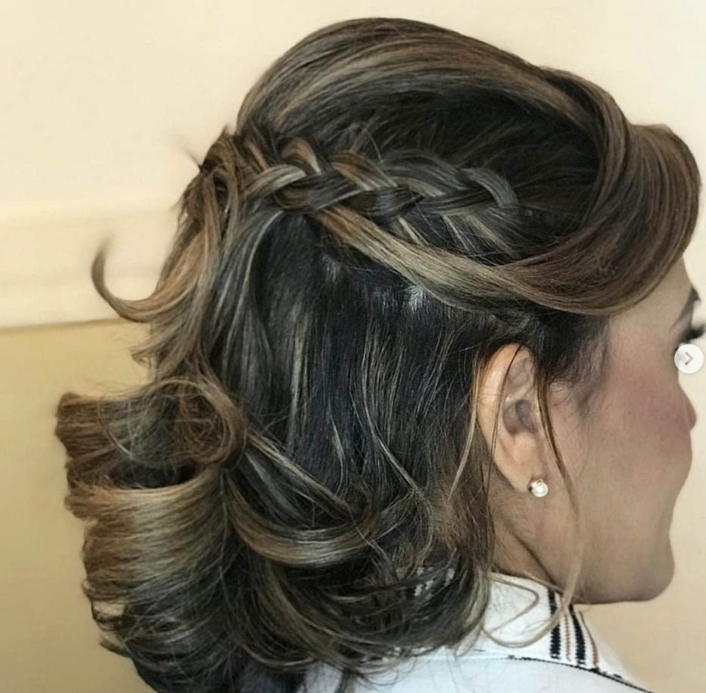 penteado cabelo curto semipreso com tranca