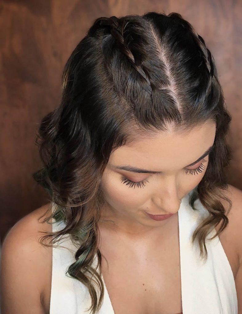 penteado cabelo curto tranca box no topo