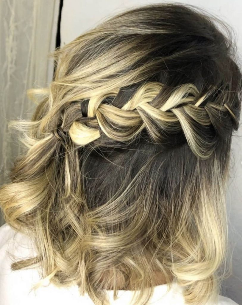 penteado cabelo curto tranca diagonal