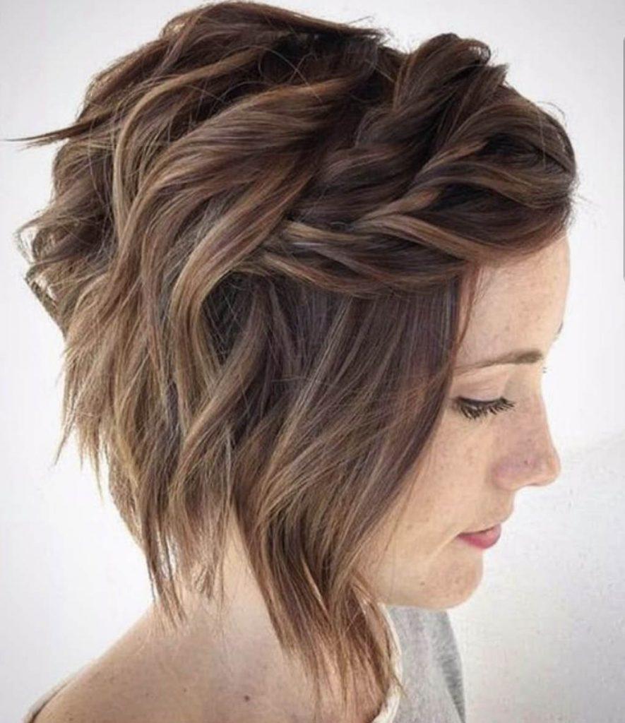 penteado cabelo curto tranca na franja