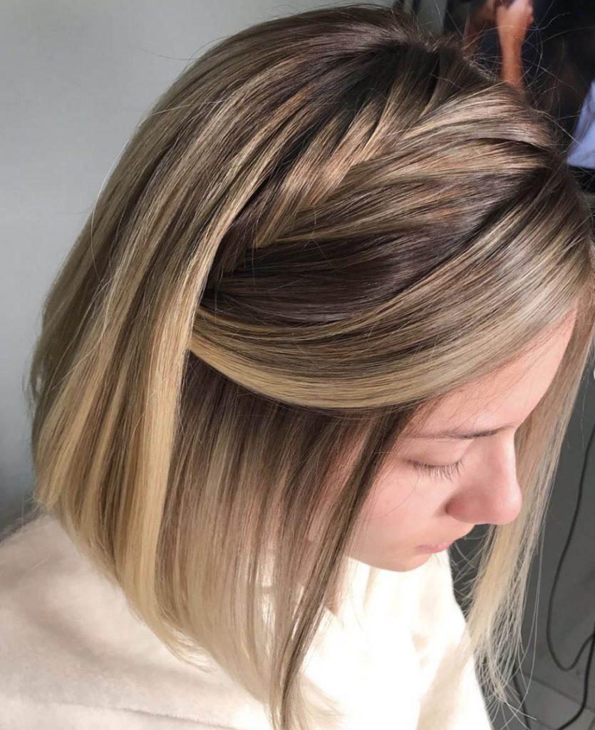 penteado cabelo curto tranca solta