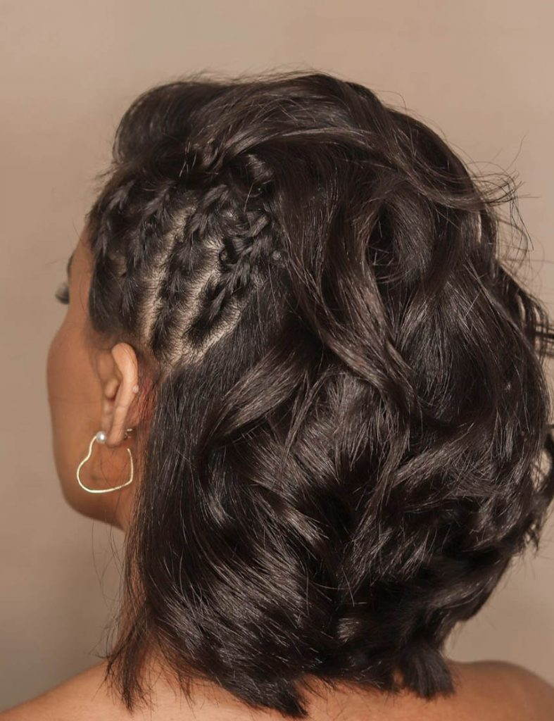 penteado cabelo curto trancas laterias embutidas