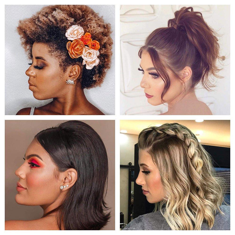 penteados para cabelos curtos