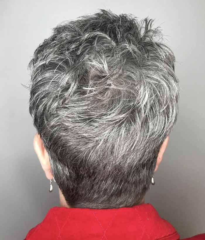 cabelo curto grisalho para senhoras