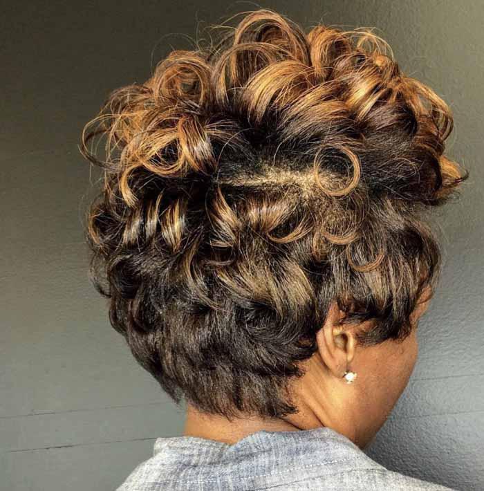corte de cabelo curto crespo para senhoras