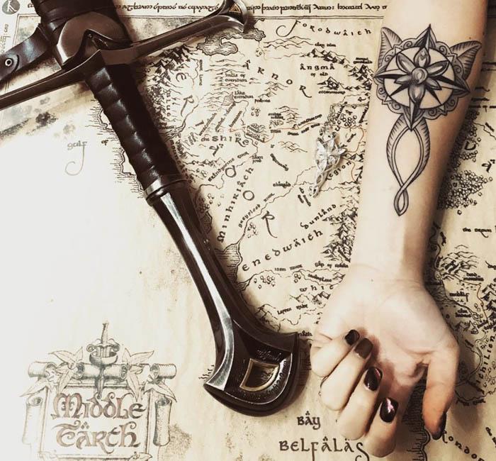 tatuagem senhor dos aneis braco