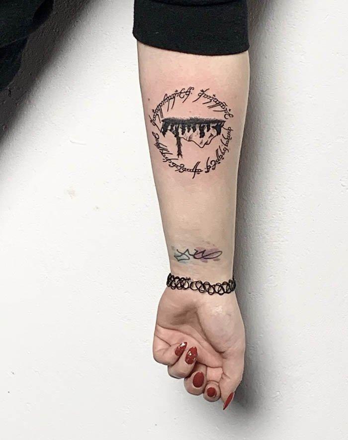 tatuagem senhor dos aneis