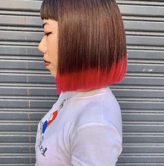 dip dye hair 1